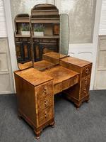 Stylish Art Deco Burr Walnut Dressing Table (14 of 20)