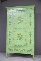 Vintage Painted Pine Wardrobe (3 of 12)