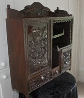Antique Japanese Carved Wood Tabletop Cabinet c.1900 (4 of 15)