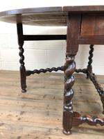 Antique 18th Century Welsh Oak Gateleg Table, Folding Table, Dining Table or Kitchen Table (10 of 12)