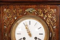 French Brass Inlaid Rosewood Mantle Clock (13 of 14)