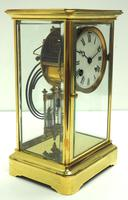 Fine  Antique French Table Regulator with Compensating Pendulum 8 Day 4 Glass Mantel Clock (5 of 11)