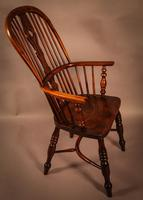 Yew Wood High Back Windsor Chair Rockley Made (2 of 9)