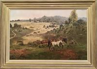 Rosemary Sarah Welch  S.E.A  Oil on Canvas New Forest Ponies