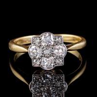 Art Deco Diamond Cluster Ring 18ct Gold Platinum Circa 1920 (6 of 6)