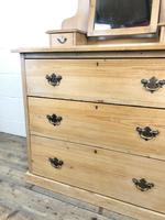 Antique Pine Dressing Table Chest with Drawers (9 of 10)