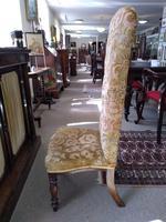 Victorian Mahogany  Upholstered Prayer Chair (2 of 8)