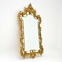 Large Antique Chippendale Style Gilt Brass Mirror (2 of 12)