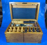 Victorian Pine Partially Fitted Games Box (20 of 32)