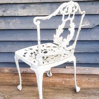 Aluminium Vintage White Painted Five Piece Patio Set (3 of 12)
