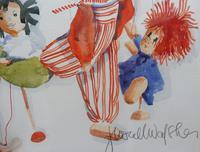 Watercolour The Puppets listed Irish artist Judith Caulfield Walsh (9 of 10)