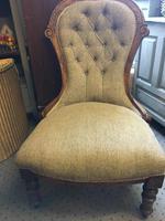Victorian Oak Ballon Back Chair (2 of 3)