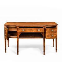 George III breakfront yew-wood inlaid mahogany sideboard (8 of 10)