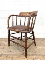 Antique Desk Chair with Leather Seat (7 of 10)