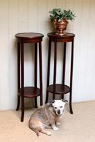 Pair of Edwardian Mahogany Jardinière Stands (7 of 10)