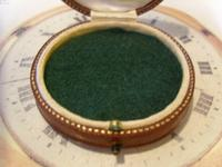 Antique Jewellery or Fob Watch Box 1910 Edwardian Burgundy Leatherette Satin Lined (4 of 9)