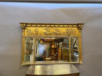 19th Century Large Gilt Overmantle Mirror (6 of 16)