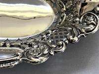 Lovely Edwardian Pierced Silver Trinket Dish (6 of 7)
