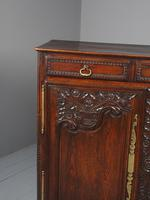 Antique Northern French Carved Oak Side Cabinet (4 of 15)