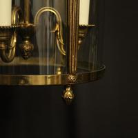 French Convex Gilded Triple Light Antique Lantern (8 of 10)