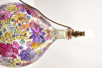 1960s Hand Painted Demi John Lamp with Floral Pattern (11 of 22)
