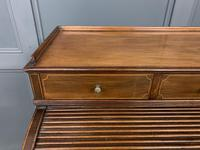Maple & Co Inlaid Mahogany Tambour Cylinder Desk (5 of 22)