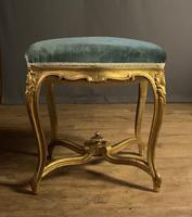 Beautiful French Giltwood Dressing Table Stool (2 of 12)