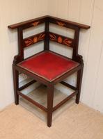 Mahogany Art Nouveau Corner Chair c.1900 (6 of 8)