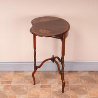 Edwardian Inlaid Rosewood Drop Leaf Occasional Table (13 of 23)