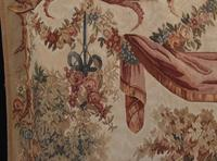 Antique French Tapestry Classical Courtly Love Romance c.1860 (4 of 17)