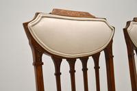 Pair of Antique Edwardian Inlaid Mahogany Side Chairs (9 of 10)