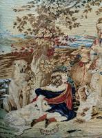 Large Beautiful Framed Original 19thc German Berlin Needlework Tapestry Picture (10 of 15)