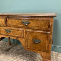Spectacular 18th Century Figured Walnut Antique Lowboy / Side Table (5 of 5)