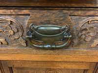 Victorian Carved Oak 3 Door Bookcase (6 of 23)