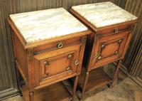 Pair of French Oak Bedside Cabinets (2 of 6)