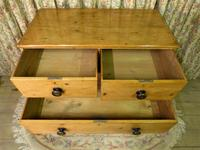Regency Stripped Pine Chest of Drawers with Original Knobs (5 of 8)