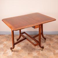 Inlaid Mahogany Edwardian Sutherland Table (18 of 19)