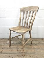 Pair of Antique Slat Back Farmhouse Kitchen Chairs (8 of 9)
