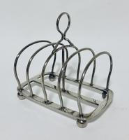 Antique Solid Silver Toast Rack (6 of 8)