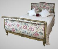French Roll End Style Double Bed Frame With Matching Armchairs & Side Table (2 of 17)