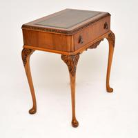 Antique Burr Walnut Leather Top Writing Table / Desk (2 of 10)