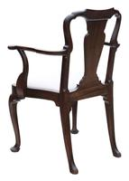 Set of 8 Mahogany Dining Chairs Queen Anne revival c.1910 (8 of 11)