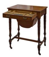 Edwardian Walnut Work Table (3 of 5)