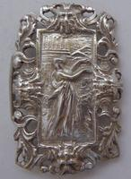 Rare Edwardian Shakespeare 1904 Hallmarked Solid Silver Nurses Belt Buckle (4 of 10)