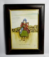 19th Century Dutch Comical Oil on Canvas by H Rowbotham (3 of 15)