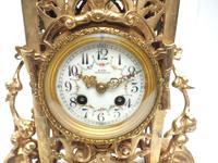 Impressive Antique Candelabra 8-day Clock Set French Striking Rococo Ormolu Bronze Mantel Clock (11 of 15)