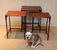 Mahogany Nest of Three Tables (11 of 11)