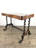 Victorian Rosewood Stretcher Table / Centre Table (11 of 15)