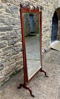 Antique Mahogany Cheval Mirror (16 of 18)