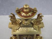 French Egyptian Revival Bronze Gilt Mantel Clock by Achille Brocot (8 of 12)